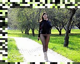 pantyhose outdoor flashing